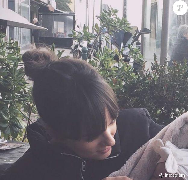 Alizée Lyonnet et sa fille Maggy sur Instagram, le 24 janvier 2020.