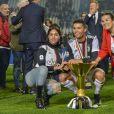 Cristiano Ronaldo et sa compagne Georgina Rodriguez et sa mère Maria Dolores dos Santos Aveir - La Juventus fête son 35ème titre de Champion d'Italie à Turin le 19 mai 2019.