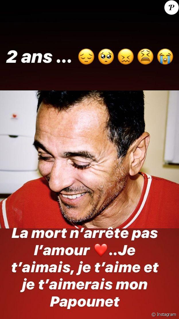 Rayane Bensetti partage une photo de son papa Bachir Bensetti le 8 février 2020.