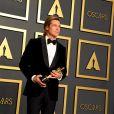 Brad Pitt a reçu l'Oscar du meilleur acteur dans un second rôle pour Once Upon a Time... in Hollywood de Quentin Tarantino le 9 février 2020 lors de la 92e cérémonie des Oscars à Los Angeles.
