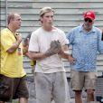 """Christian Bale sur le tournage de """"The Fighter"""", à Boston (29 juillet 2009)"""