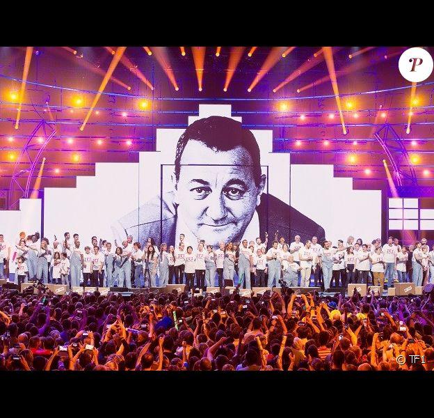 """""""Le Monde des Enfoirés"""", spectacle 2019 des Enfoirés pour les Restos du coeur, diffusé le 8 mars 2019 sur TF1."""
