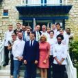 """David Galienne de """"Top Chef 2020"""" a cuisiné pour Emmanuel et Brigitte Macron, le 13 juillet 2018"""