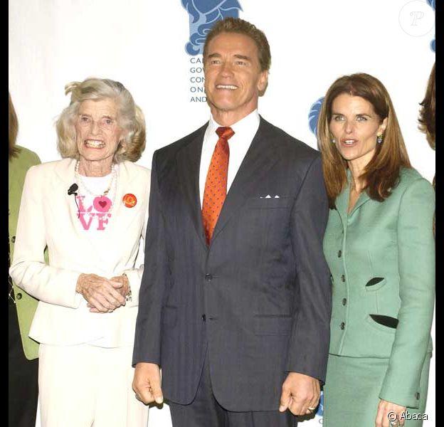 Eunice Kennedy, Arnold Schwarzenegger et Maria Shriver