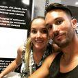 """Elodie et Joachim de """"Mariés au premier regard 2020"""" à l'aéroport de Marseille, photo postée sur Instagram, le 12 février"""