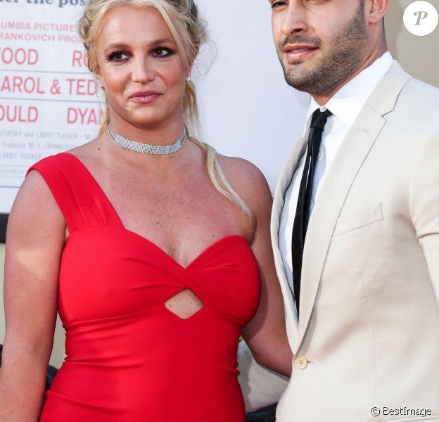 """Britney Spears, Sam Asghari - Les célébrités assistent à la première de """"Once Upon a Time in Hollywood"""" à Hollywood, le 22 juillet 2019."""