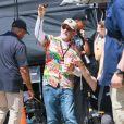 Steven Spielberg - Steven Spielberg sur le tournage de West Side Story dans le quartier de Harlem à New York, le 14 juillet 2019