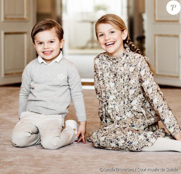 La princesse Estelle de Suède photographiée à l'occasion de son 8e anniversaire, célébré le 23 février 2020. © Linda Broström / Cour royale de Suède