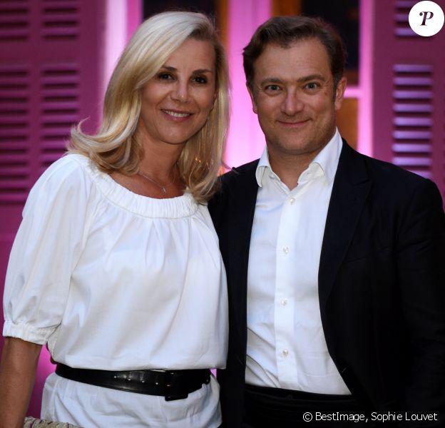 Exclusif - Laurence Ferrari et son mari Renaud Capuçon lors des nuits du château de la Moutte à Saint-Tropez, Côte d'Azur, France, le 8 août 2019. © Sophie Louvet/Nice Matin/Bestimage