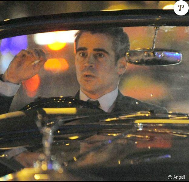 Colin Farrell sur le tournage de London Boulevard, à Londres (logique, c'est dans le titre), le 12 août 2009 !