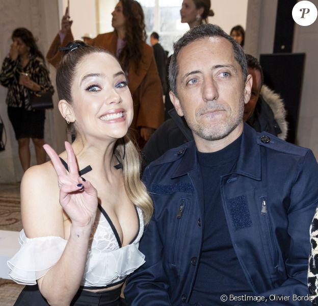 Ashley Benson et Gad Elmaleh assistent au défilé Giambattista Valli au musée des Arts décoratifs. Paris, le 2 mars 2020. © Olivier Borde / Bestimage