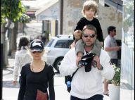 Russell Crowe se ressource pleinement auprès de sa charmante épouse et de leur second fils... irrésistible !