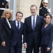 Brigitte et Emmanuel Macron : Scène inédite avec Felipe et Letizia d'Espagne !