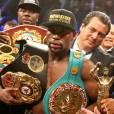 """Floyd Mayweather et Manny Paciquiao se sont affrontés lors du """"combat du siècle"""" à la MGM Grand Arena de Las Vegas le 2 mai 2015"""