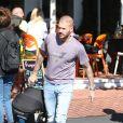 Matt Pokora et sa compagne Christina Milian se baladent avec leur fils Isaiah dans le quartier de West Hollywood à Los Angeles. La petite famille est allée déjeuner chez Fred Segal. Le 11 février 2020.