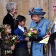 La reine Elizabeth II lors de la cérémonie de la Journée du Commonwealth en l'abbaye de Westminster à Londres, le 9 mars 2020.