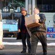 Al Pacino et John Goodman  sur le tournage de You don't know Jack de Barry Levinson le 18 août 209à à New York