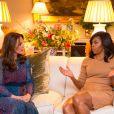 Michelle Obama et Kate Middleton, duchesse de Cambrige - Le prince William et Kate Middleton reçoivent Barack Obama et sa femme pour un dîner privé dans leur résidence de Kensington à Londres le 22 Avril 2016.
