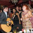 Régine à l'anniversaire de Massimo Gargia et Monica Bacardi au Stefano Forever, à Saint-Tropez. 20/08/09