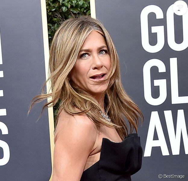 Jennifer Aniston - Photocall de la 77ème cérémonie annuelle des Golden Globe Awards au Beverly Hilton Hotel à Los Angeles, le 5 janvier 2020.