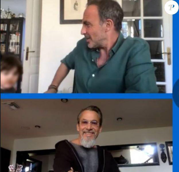 Nikos Aliagas en live avec Pascal Obispo, Marc Lavoine et Florent Pagny - Facebook, 5 avril 2020