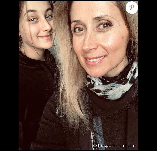 Lara Fabian et sa fille Lou sur Instagram. Le 1er décembre 2019.