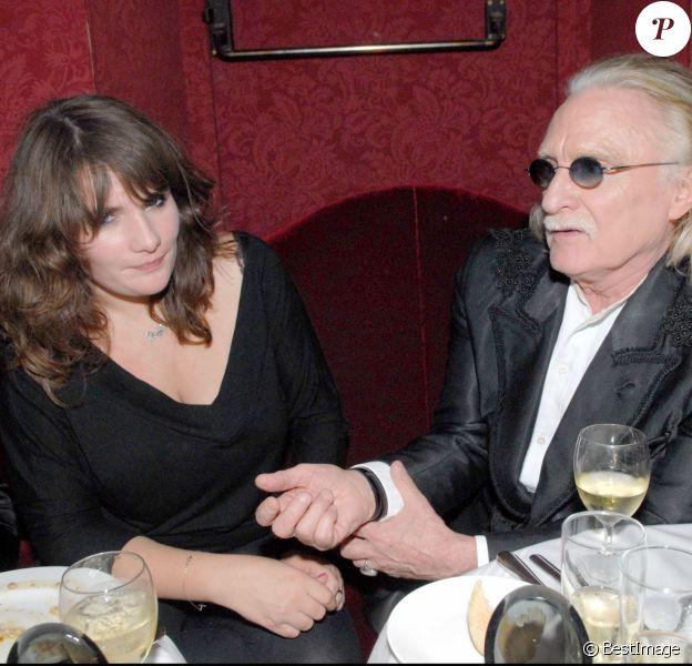 Marie-Amélie Seigner et Christophe - Soirée Moët et Chandon chez Castel, à Paris, le 27 septembre 2007.