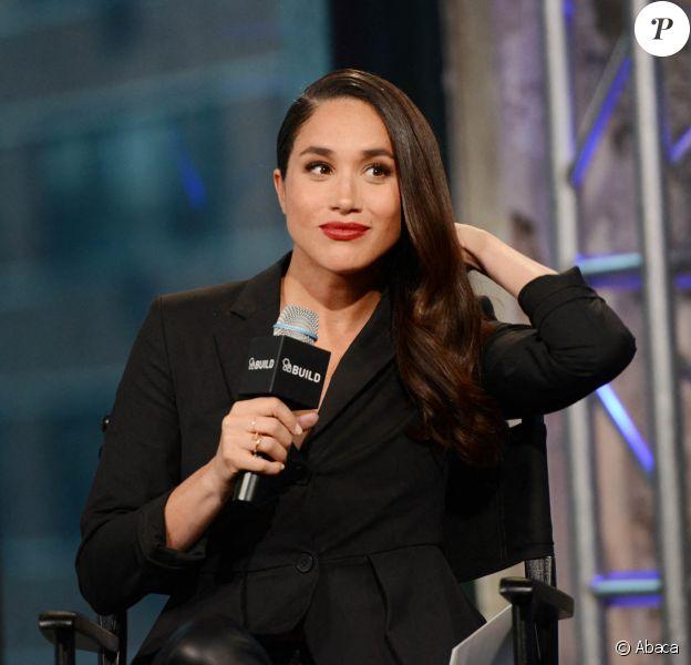 Meghan Markle lors d'une émission pour AOL, à New York, le 17 mars 2016.