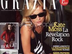 Le magazine Grazia s'est offert Kate Moss pour son 1er numéro... et ce nouveau magazine nous a conquis !