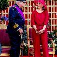 Le prince Laurent et son épouse la princesse Claire lors de la parade militaire de la fête nationale belge, le 21 juillet 2019.