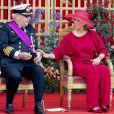 Le prince Laurent de Belgique et la princesse Claire de Belgique - La famille royale de Belgique assiste à la parade militaire à l'occasion de la fête Nationale belge, le 21 juillet 2019.
