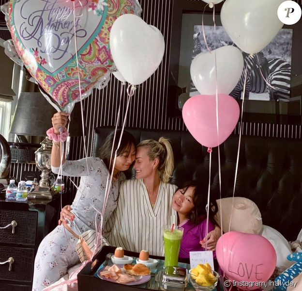 Laeticia Hallyday en famille sur Instagram, mai 2019.