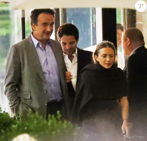 Exclusif - Olivier Sarkozy - Les soeurs Mary-Kate et Ashley Olsen fêtent leur anniversaire (33 ans) à New York le 13 juin 2019.
