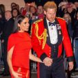 Le prince Harry, duc de Sussex, et Meghan Markle, duchesse de Sussex assistent au festival de musique de Mountbatten au Royal Albert Hall de Londres, Royaume Uni, le 7 mars 2020.