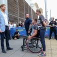 "Le prince Harry, duc de Sussex, lors des ""Invictus UK Trials"" à l'""English Institute of Sport"" à Sheffield. Le 25 juillet 2019"
