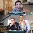 """Cyril Lignac et Cristina Cordula dans l'émission """"Tous en cuisine"""" sur M6. Le v endredi 15 mai 2020."""