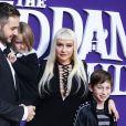 Christina Aguilera avec son fiancé Matthew Rutler et ses enfants Max Liron Bratman et Summer Rain Rutle à la première de The Addams Family dans le quartier de Westfield Century City à Los Angeles, le 6 octobre 2019