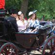 La princesse Beatrice d'York, la princesse Eugenie d'York et son mari Jack Brooksbank - La parade Trooping the Colour 2019, célébrant le 93ème anniversaire de la reine Elisabeth II, au palais de Buckingham, Londres, le 8 juin 2019.