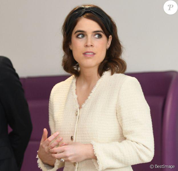 La princesse Eugenie, duchesse d'York, Jack Brooksbank lors d'une visite l'Hôpital national orthopédique royal de Londres pour l'ouverture du nouveau bâtiment Stanmore le 21 mars 2019.
