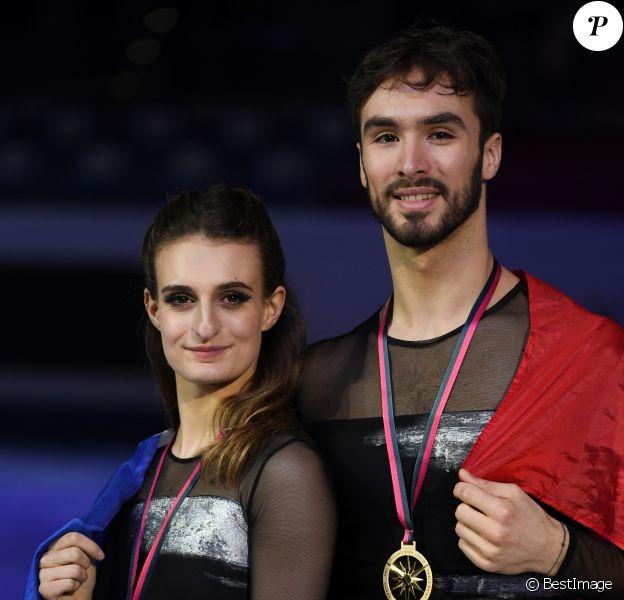 Les Français Gabriela Papadakis et Guillaume Cizeron remportent la finale du Grand Prix de danse sur glace à Turin, le 7 décembre 2019.