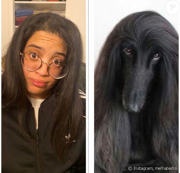 Melha Bedia se compare à un chien sur Instagram, le 27 mai 2020.