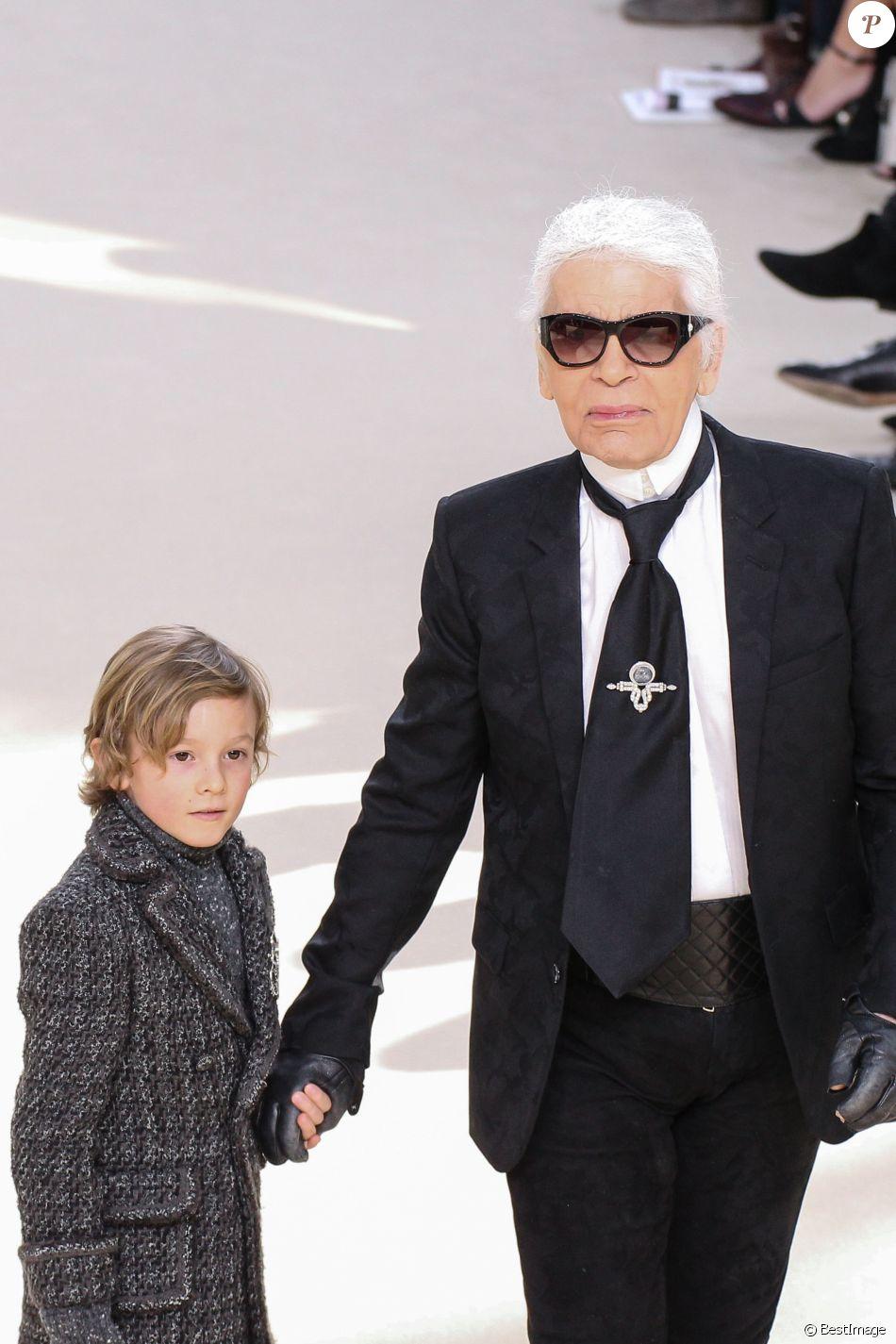 Karl Lagerfeld et son filleul Hudson Kroenig, le fils du