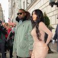 Kim Kardashian et son mari Kanye West se baladent ensemble à New York le 5 février 2020.