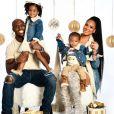 Devin McCourty avec sa femme Michelle et leurs deux enfants pour leur carte de voeux de 2019.