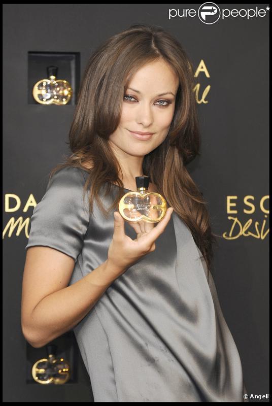 Olivia Wilde lors de la présentation du nouveau parfum Escada