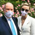 Le prince Albert de Monaco et son épouse Charlene sur Instagram, le 2 juin 2020.