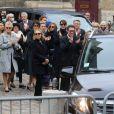 Nicolas Bedos, Joëlle Bercot, Anne Le Nen, Doria Tillier, Muriel Robin - Sorties - Hommage à Guy Bedos en l'église de Saint-Germain-des-Prés à Paris le 4 juin 2020.