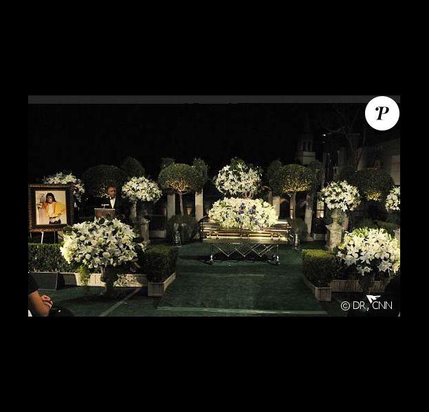 Le cercueil de Michael Jackson