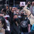 Une vague de manifestations contre les violences policières, suite à la mort de George Floyd, secoue les États-Unis. Mai 2020.