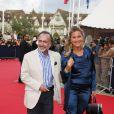 Olivier Dassault et sa femme lors de la cérémonie d'ouverture du festival de Deauville le 4 septembre 2009